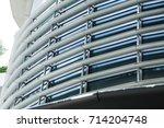 sun louver  modern office sun... | Shutterstock . vector #714204748