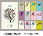Birds Tree  Calendar 2018...