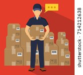 service of fast delivery....   Shutterstock .eps vector #714212638