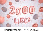 2000 likes  2000 followers... | Shutterstock . vector #714220162