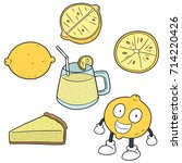 vector set of lemon | Shutterstock .eps vector #714220426