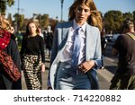 paris  france   october 2  2016 ... | Shutterstock . vector #714220882