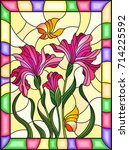 illustration in stained glass...   Shutterstock .eps vector #714225592