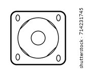 sound system icon outline... | Shutterstock .eps vector #714231745