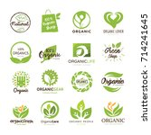 organic food and people logo set | Shutterstock .eps vector #714241645