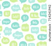 speech bubbles seamless pattern.... | Shutterstock .eps vector #714241942