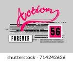 aciton  t shirt graphic design | Shutterstock .eps vector #714242626