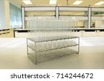 test tube instrument science in ... | Shutterstock . vector #714244672