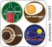 fast food and cafe trademark | Shutterstock .eps vector #71424787