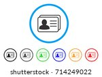 account cards icon. vector... | Shutterstock .eps vector #714249022