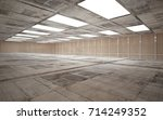 abstract  concrete and wood... | Shutterstock . vector #714249352