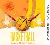 basket poster template. paper... | Shutterstock .eps vector #714250792