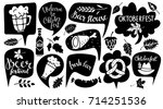 oktoberfest set. food and drink ... | Shutterstock . vector #714251536