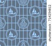vector illustration seamless... | Shutterstock .eps vector #714254812