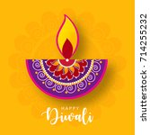happy diwali wallpaper design... | Shutterstock .eps vector #714255232