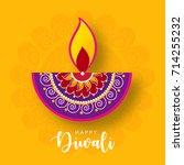 happy diwali wallpaper design... | Shutterstock .eps vector #714255232