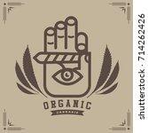 marijuana   cannabis logo... | Shutterstock .eps vector #714262426