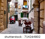tropea  italy   august 17  red... | Shutterstock . vector #714264802