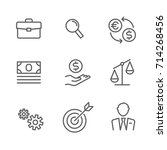 business money bank thin line... | Shutterstock .eps vector #714268456