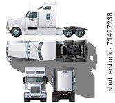 vector hi detailed semi truck   Shutterstock .eps vector #71427238