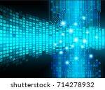 binary circuit future... | Shutterstock .eps vector #714278932
