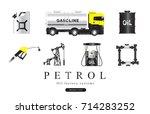 popularity oil refinery modern... | Shutterstock .eps vector #714283252