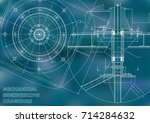 mechanical engineering drawings.... | Shutterstock .eps vector #714284632