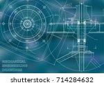 mechanical engineering drawings....   Shutterstock .eps vector #714284632
