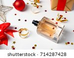 christmas composition with...   Shutterstock . vector #714287428