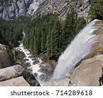 View From Above Of Vernal Fall...