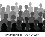 audience | Shutterstock .eps vector #71429194