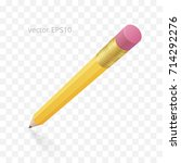 vector 3d graphite pencil with... | Shutterstock .eps vector #714292276