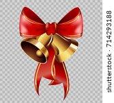 christmas decoration golden... | Shutterstock .eps vector #714293188