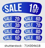sale icon set. discount price... | Shutterstock .eps vector #714304618