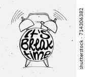 hand draw alarm clock... | Shutterstock .eps vector #714306382