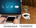 contact us  customer support... | Shutterstock . vector #714306535