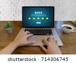 online reviews evaluation time... | Shutterstock . vector #714306745