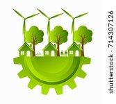 green ecology city... | Shutterstock .eps vector #714307126