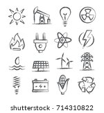 energy doodle icons | Shutterstock . vector #714310822