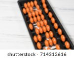 mental arithmetic blurred... | Shutterstock . vector #714312616