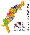 usa east coast vector map   Shutterstock .eps vector #71431714