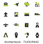 funeral service vector icons... | Shutterstock .eps vector #714319642