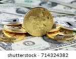 physical version of bitcoin ... | Shutterstock . vector #714324382