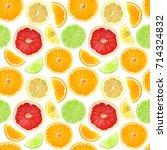 citrus seamless pattern. fruit. ...   Shutterstock . vector #714324832