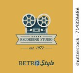 reel to reel tape recorder.... | Shutterstock .eps vector #714326686