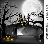 vector illustration of creepy... | Shutterstock .eps vector #714335476