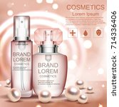cream. realistic. cosmetics.... | Shutterstock .eps vector #714336406