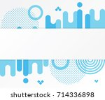 modern abstract shapes. design... | Shutterstock .eps vector #714336898