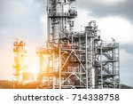 close up industrial zone. plant ... | Shutterstock . vector #714338758