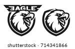 head of the eagle  monochrome... | Shutterstock . vector #714341866